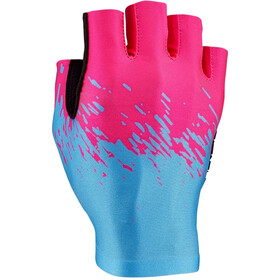 Supacaz SupaG Short Finger Gloves neon pink/neon blue